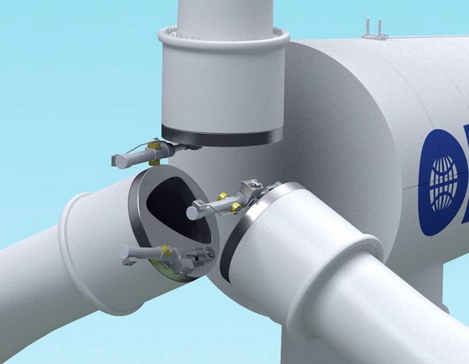 Typischer WKA-Anwendungsfall für OILES-Gleitlager: Die hydraulischen Verstellaggregate der Pitch- und Azimut-Systeme.