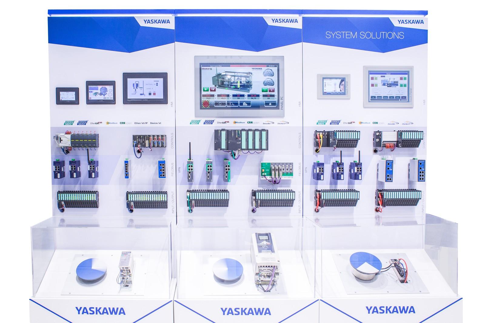 """Gewerkeübergreifende Steuerungs- und Antriebstechnik steht bei Yaskawa zur """"All about automation Leipzig"""" im Fokus."""