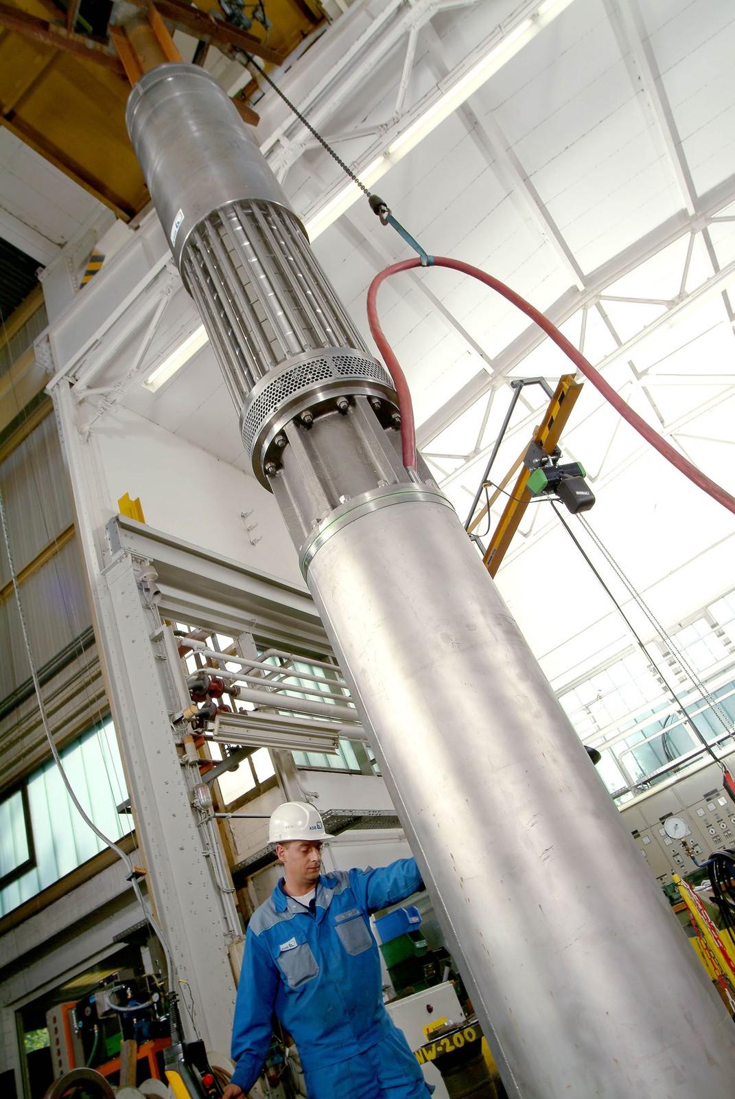 Pumpen der Baureihe UPZ sind zukünftig auch bis zu einem Durchmesser von 50 Zoll (1.250 mm) und mit Förderleistungen von 5.000 m³ pro Stunde lieferbar.