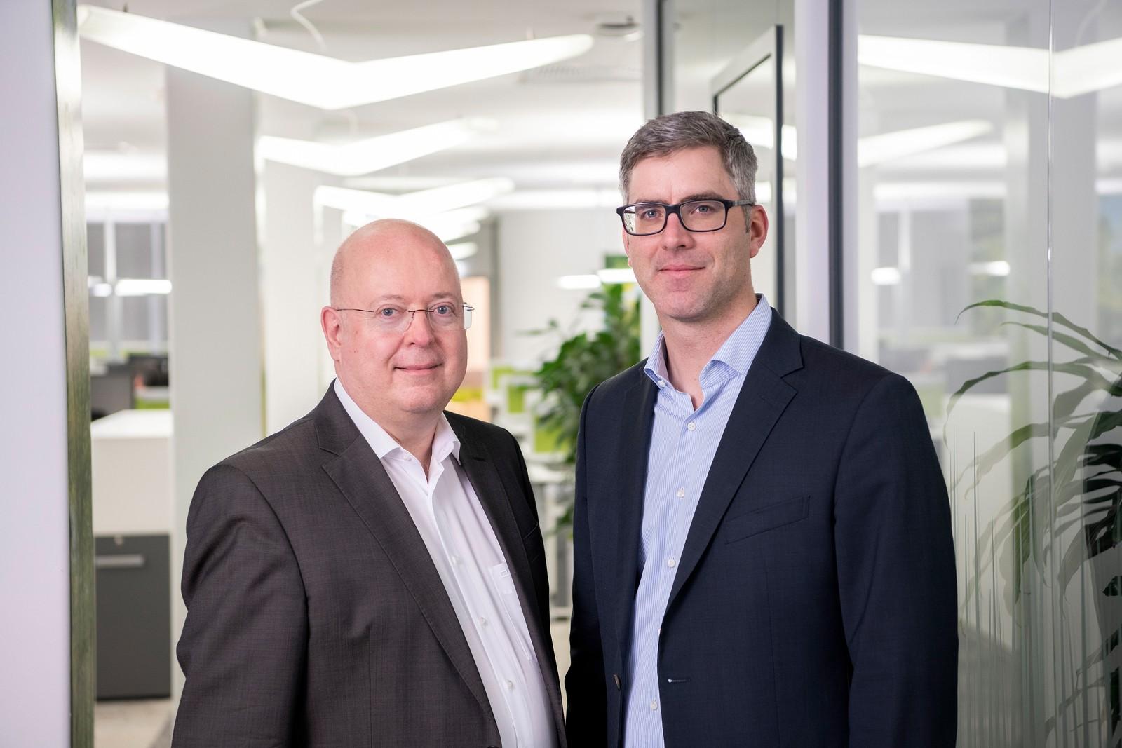 Die neue Doppelspitze in der Geschäftsführung bei Bühler Motor: Peter Muhr (li.) und Mark Furtwängler