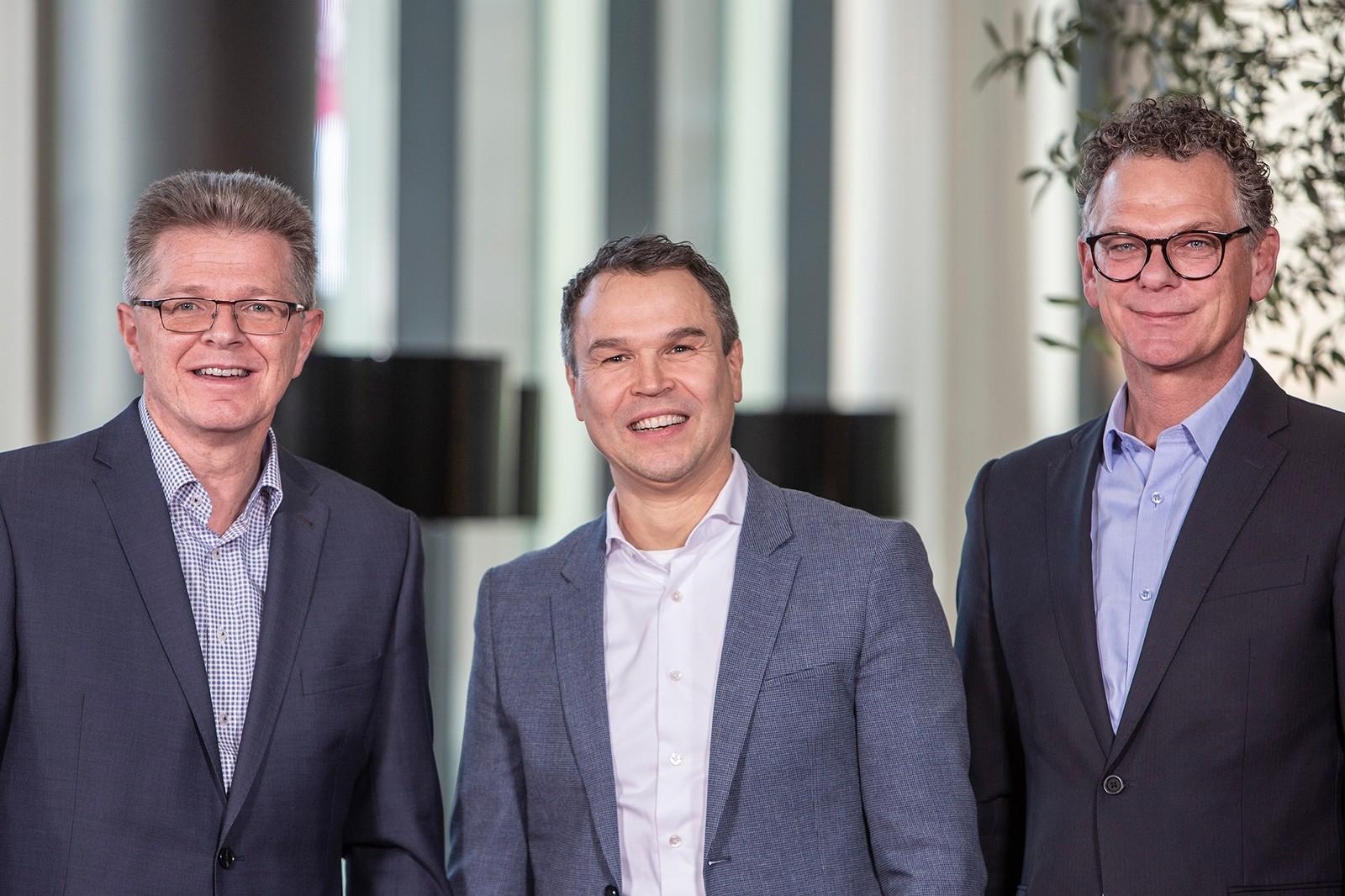Das neue Gespann der Festo Vertriebsgesellschaft (v.l.): Geschäftsführer Jörg Kipper, Personalvorstand Frank Notz und Sales Manager Axel Schümann.