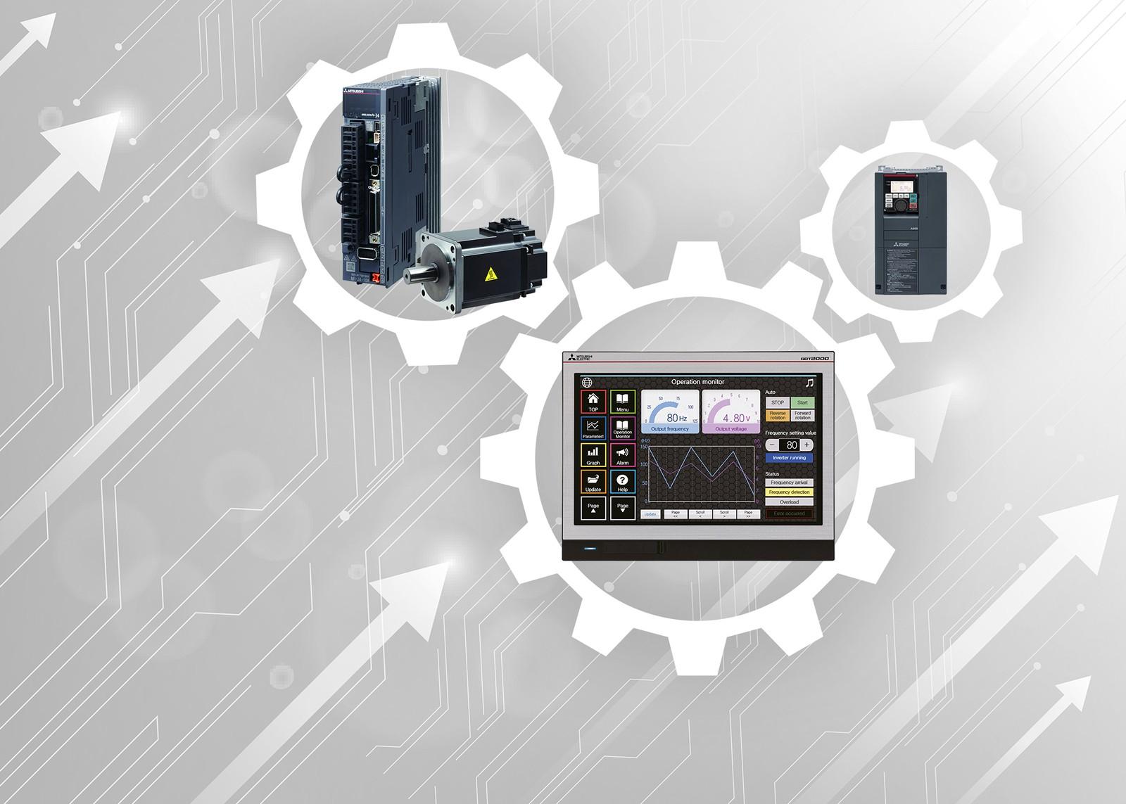 Für Werterhalt und Kostenersparnis durch vorausschauende Wartung hat Mitsubishi Electric die GOT Drive Funktion für Maschinendiagnostik entwickelt.
