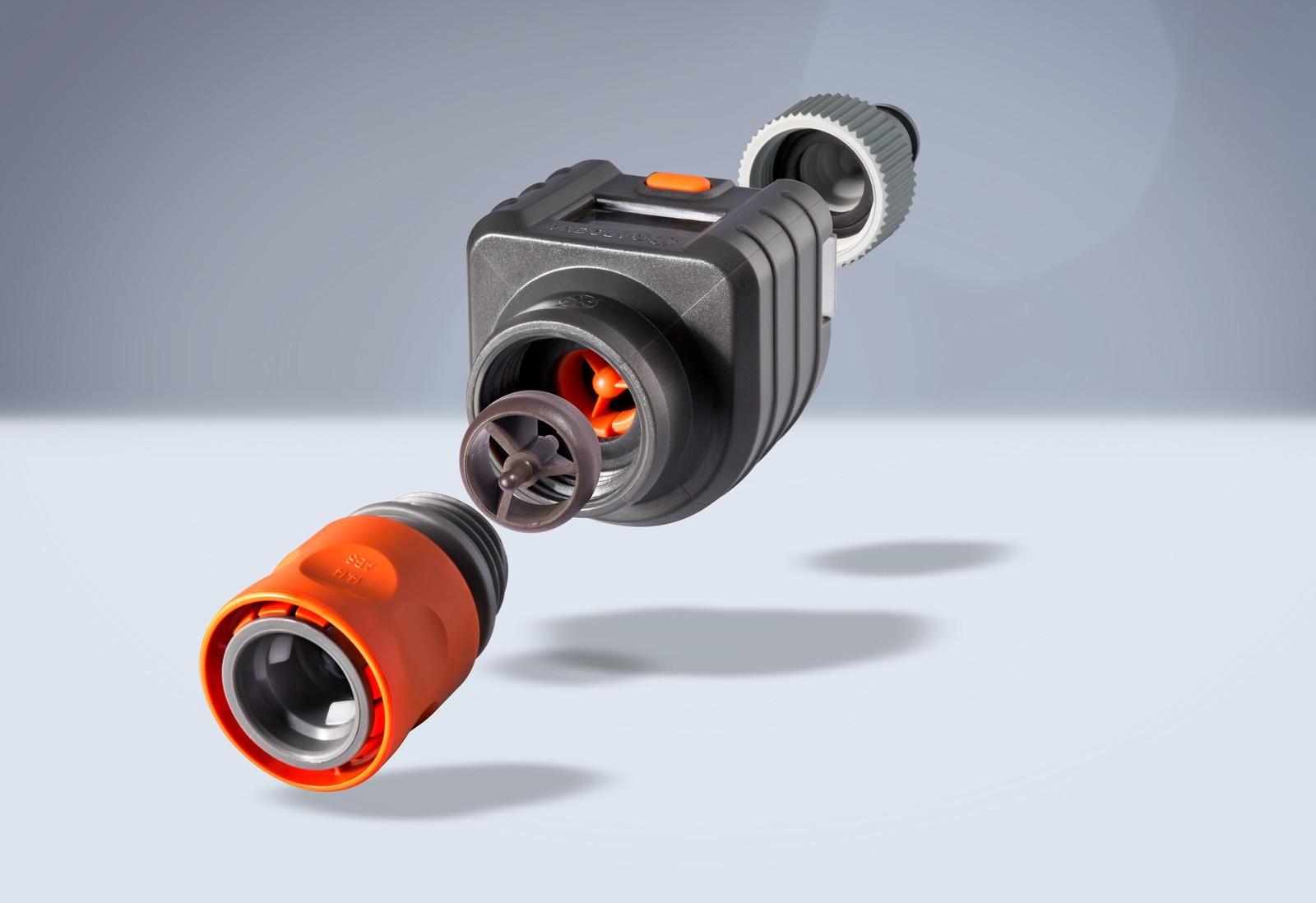 Ein Beispiel aus der Sensorik für magnetisierbare Kunststoff-Compounds: der Gardena Durchflussmesser