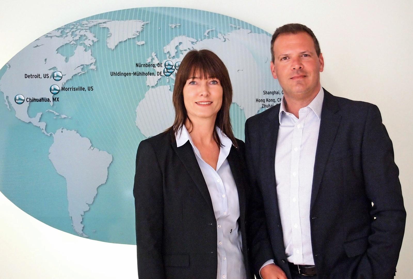 Der neue Führungskreis bei Bühler Motor: Kerstin Jung (Vice President Human Resources) und Michal Eckert (Vice President Operations)