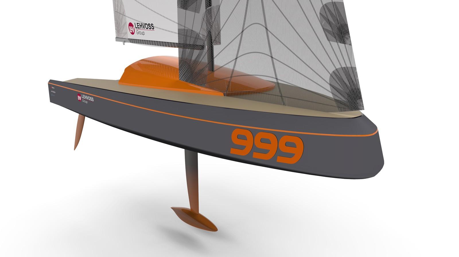 Modell des 3D-gedruckten Rennbootes von Ocore.