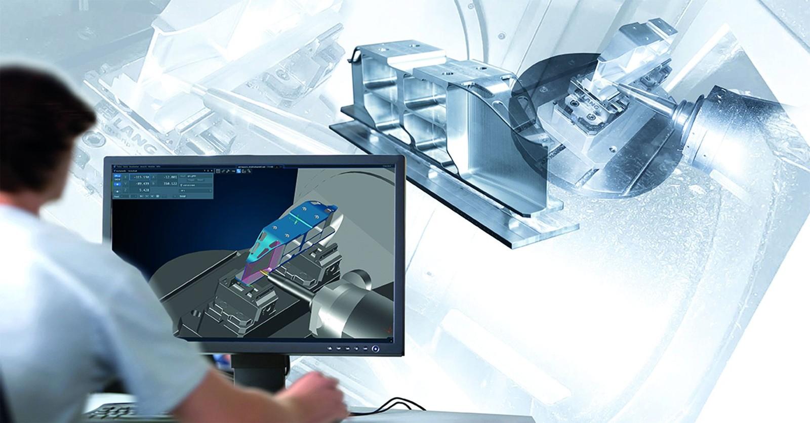 Die Werkstatt auf den Bildschirm: Der Tebis CNC-Simulator sorgt für Geschwindigkeit und Sicherheit bei der Fertigungsplanung.