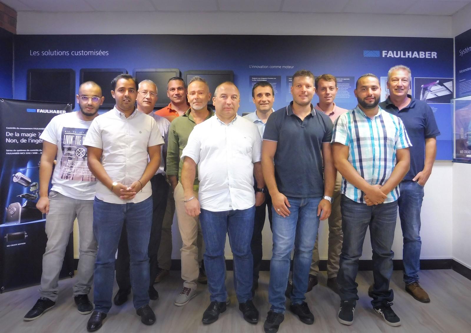 Das Team der Faulhaber France SAS. Nach 10 Jahren der Übernahme will man auch in Zukunft weiter erfolgreich wachsen.