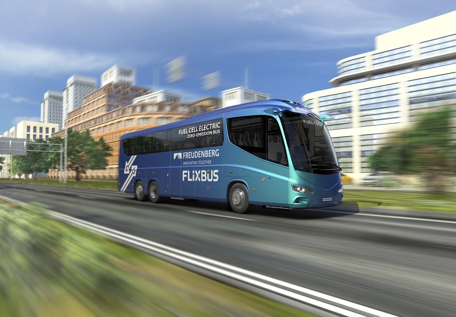 Freudenberg Sealing Technologies und FlixBus wollen Reisebusse mit Brennstoffzellenantrieb auf die Straße bringen.