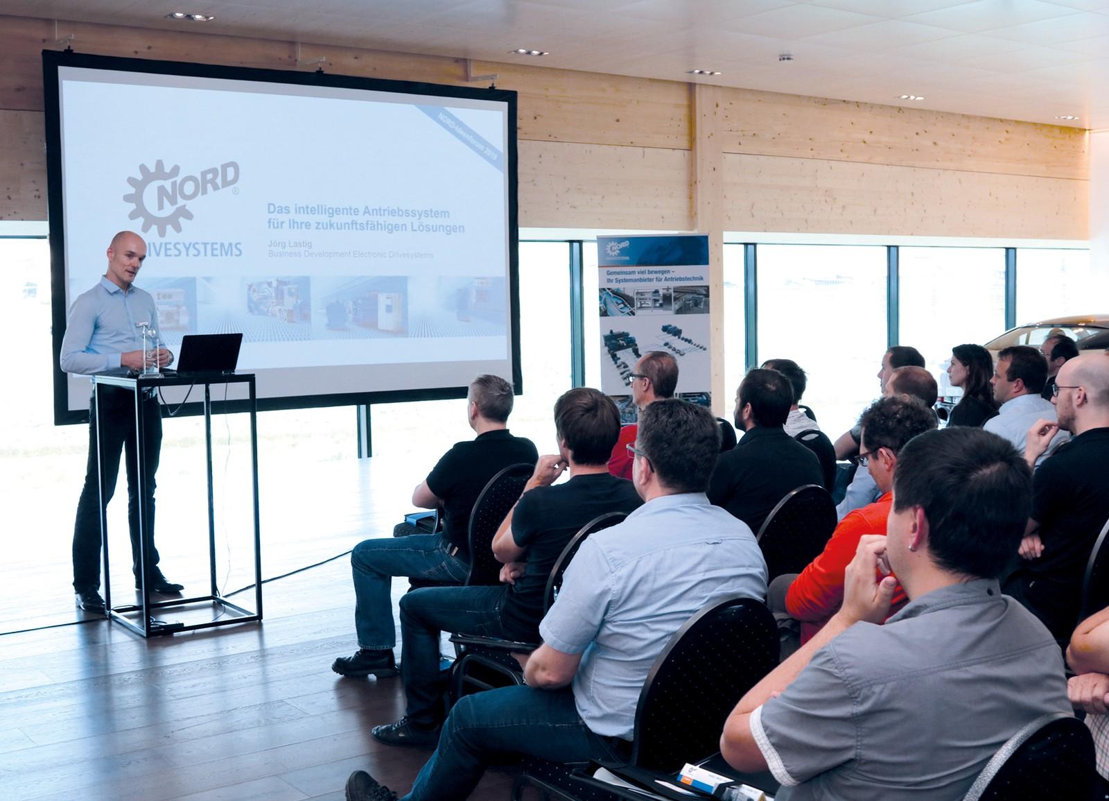 Voller Erfolg: Die Fachtagung für praktische Themen rund um die Antriebstechnik begeisterte die Kunden und Anwender des Veranstalters Nord Drivesystems.