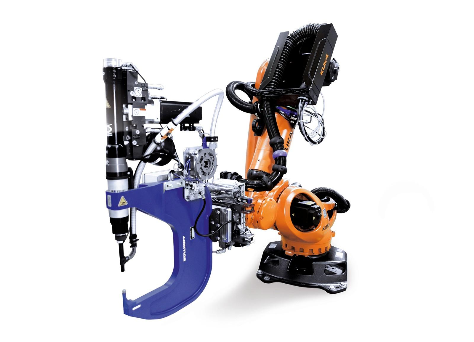 Das Ready2-Rivet-Paket von Böllhoff und Kuka umfasst alle wichtigen Komponenten.