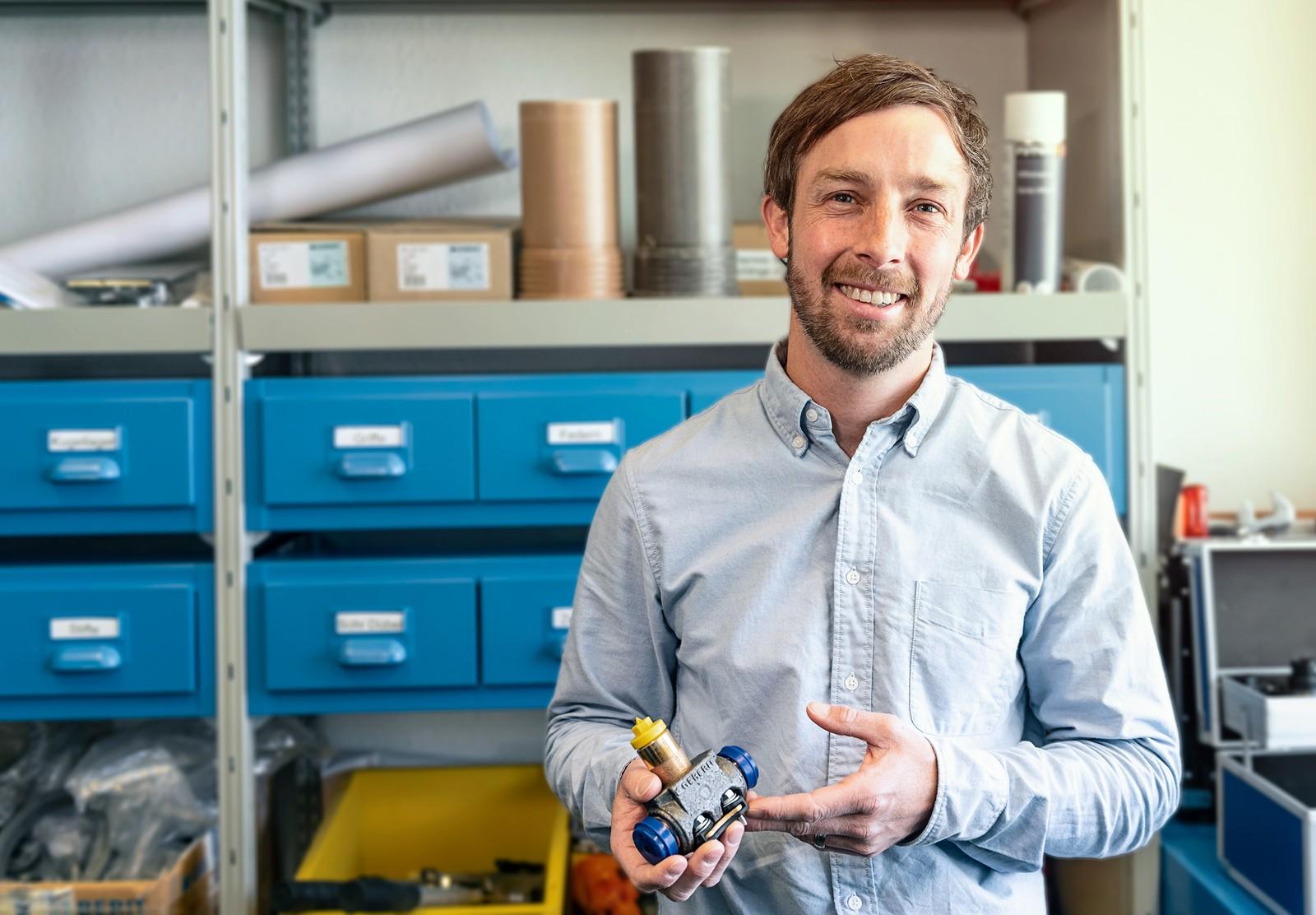 Roger Baggenstos ist Entwicklungsingenieur bei Geberit im Bereich Piping Systems.