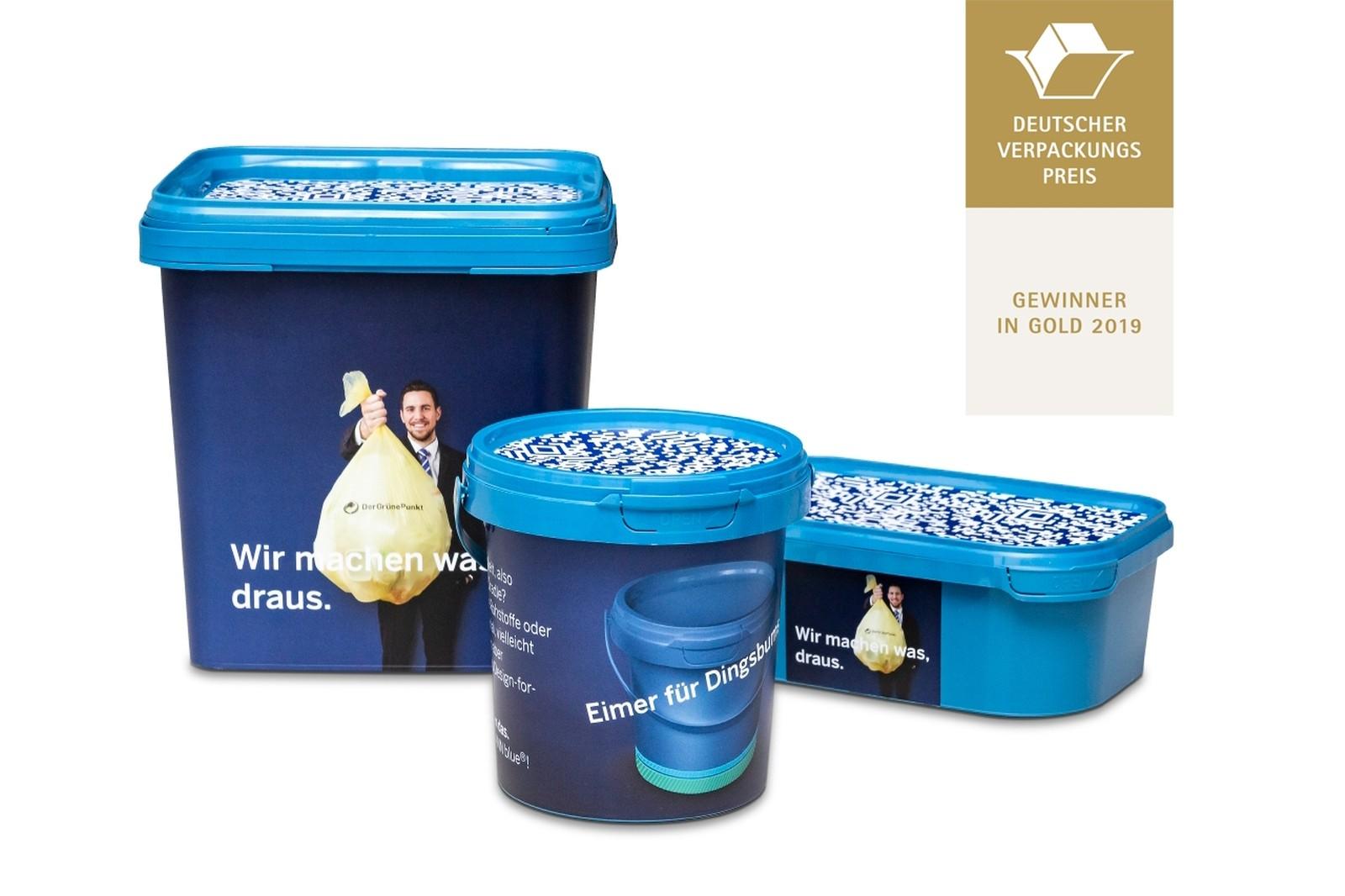 Ausgezeichnete Kreislaufwirtschaft: Die Universalverpackungen, deren Herstellungsmaterial zu mindestens 90 % aus dem Gelben Sack stammt, wurden in der Pöppelmann-Division Famac entwickelt.