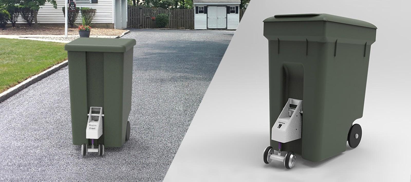 Gewinner des Cool Idea Awards 2019 in den USA: Smartcan - die erste motorisierte Mülltonne der Welt.